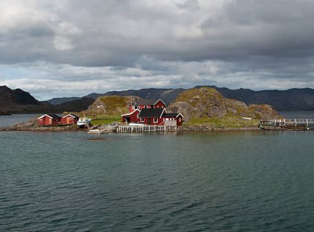Island in the Porsangerfjord in North Norway.